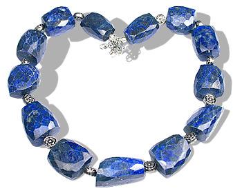 Design 11932: blue lapis lazuli chunky, ethnic, tumbled necklaces