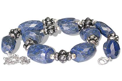 Design 11933: blue lapis lazuli chunky, ethnic necklaces