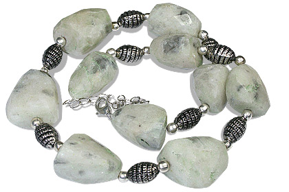 Design 11937: gray,white howlite chunky, ethnic necklaces