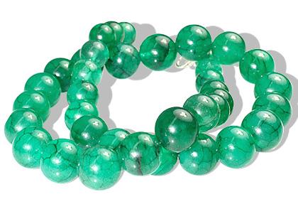 Design 12180: green aventurine ethnic necklaces