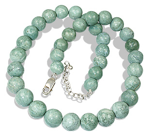 Design 12246: green jasper necklaces