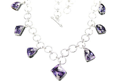 Design 12281: purple alexandrite contemporary necklaces