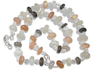 Design 12364: gray,white moonstone necklaces