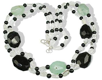 Design 12367: multi-color crystal multistrand necklaces