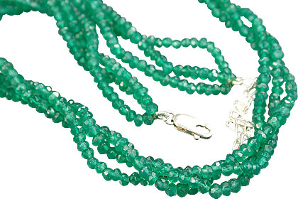 Design 12465: green aventurine multistrand necklaces