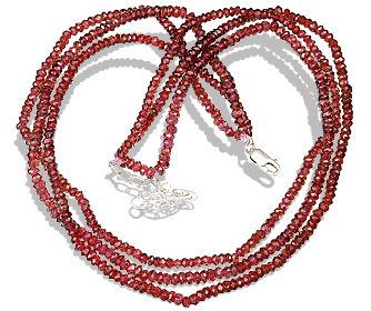 Design 12468: red garnet multistrand necklaces