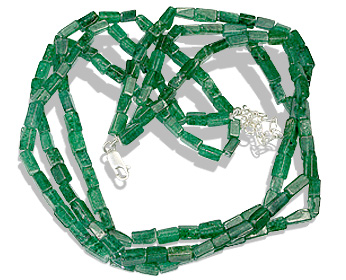 Design 12498: green aventurine multistrand necklaces