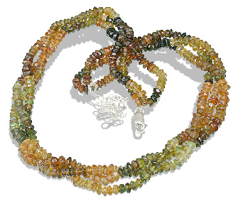 Design 12499: multi-color tourmaline multistrand necklaces
