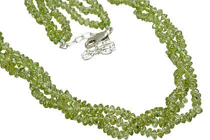 Design 12501: green peridot multistrand necklaces