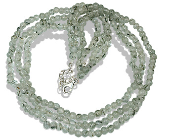 Design 12502: gray rotile multistrand necklaces