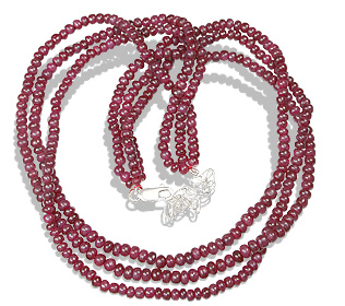 Design 12504: red ruby multistrand necklaces