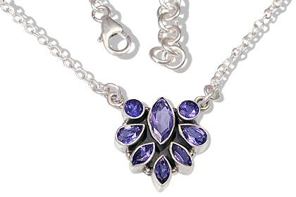 Design 12516: blue iolite ethnic necklaces
