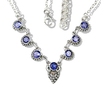 Design 12521: blue iolite brides-maids necklaces
