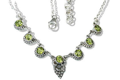 Design 12522: green peridot engagement, ethnic necklaces