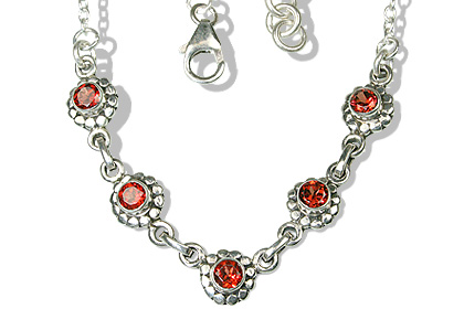 Design 12524: red garnet engagement, ethnic necklaces