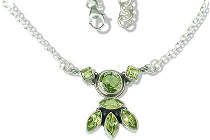 Design 12526: green peridot ethnic necklaces