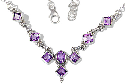 Design 12528: purple amethyst wedding necklaces
