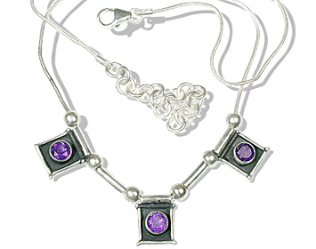 Design 12533: purple amethyst art-deco necklaces