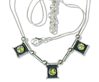 Design 12534: green peridot ethnic necklaces