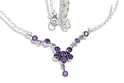 Design 12601: purple amethyst contemporary necklaces