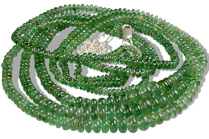 Design 12610: green emerald multistrand necklaces
