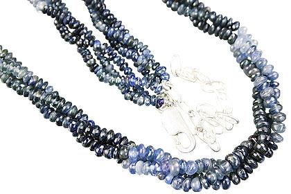 Design 12611: blue sapphire multistrand necklaces