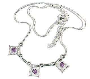 Design 12625: purple amethyst art-deco necklaces