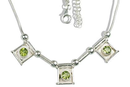 Design 12626: green,white peridot ethnic necklaces