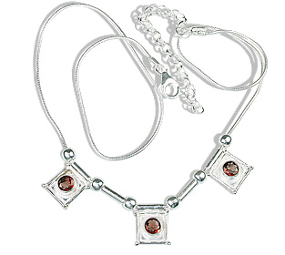 Design 12627: red,white garnet ethnic necklaces