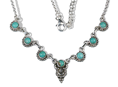Design 12629: blue,green turquoise american-southwest, ethnic necklaces