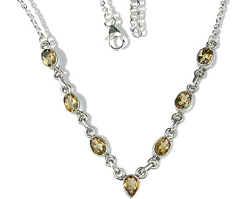 Design 12633: yellow citrine contemporary necklaces