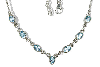 Design 12634: blue blue topaz contemporary necklaces