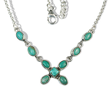 Design 12636: green turquoise contemporary necklaces