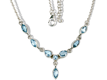 Design 12641: blue blue topaz contemporary necklaces