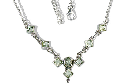 Design 12658: green green amethyst necklaces