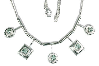 Design 12670: green green amethyst necklaces