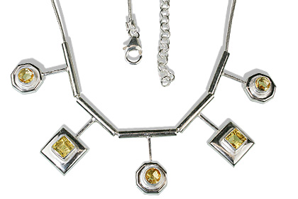 Design 12671: yellow citrine necklaces