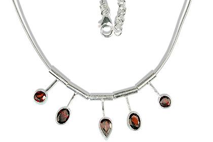 Design 12675: red garnet necklaces