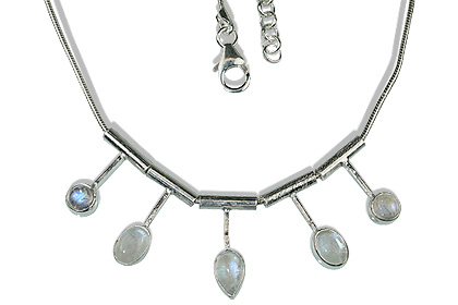 Design 12677: white moonstone necklaces