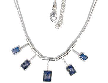 Design 12678: blue lapis lazuli necklaces