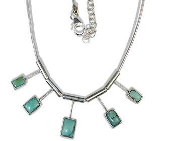 Design 12679: green turquoise necklaces