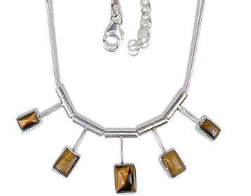 Design 12680: brown tiger eye necklaces