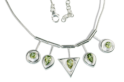 Design 12686: green peridot necklaces