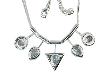 Design 12687: white moonstone necklaces