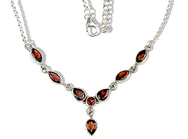 Design 12690: red garnet necklaces