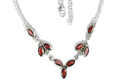 Design 12694: red garnet necklaces