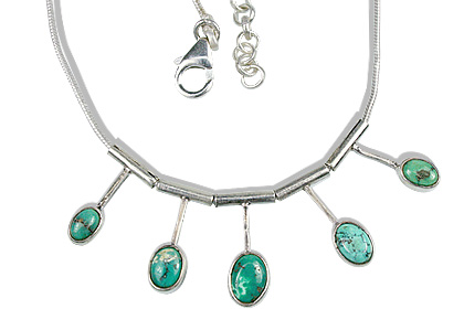 Design 12697: green turquoise necklaces