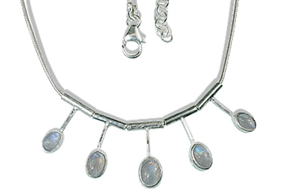 Design 12698: white moonstone necklaces