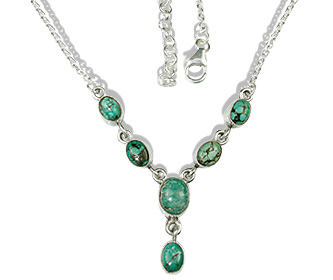 Design 12701: green turquoise necklaces
