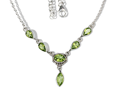 Design 12705: green peridot necklaces